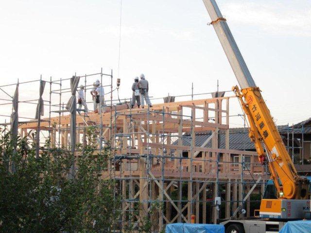 木造住宅の建て方(上棟)